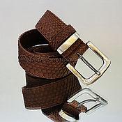 Аксессуары handmade. Livemaster - original item Belt made from Python Classic. Handmade.