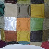 """Для дома и интерьера ручной работы. Ярмарка Мастеров - ручная работа Декоративная подушка  """"Сказка"""" в стиле пэчворк. Handmade."""