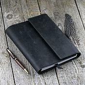 Канцелярские товары handmade. Livemaster - original item A5 leather notebook with magnets with pockets. Handmade.