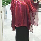 """Одежда ручной работы. Ярмарка Мастеров - ручная работа Пончо накидка """"Винный цветок"""". Handmade."""
