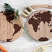 Для дома и интерьера ручной работы. Ярмарка Мастеров - ручная работа Комплект разделочных досок Карта мира. Handmade.