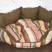 Для домашних животных, ручной работы. Ярмарка Мастеров - ручная работа Лежанка радуга для кошки Боннифаций 45х20см. Handmade.