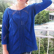 Одежда handmade. Livemaster - original item knitting tunic elegance of cotton. Handmade.