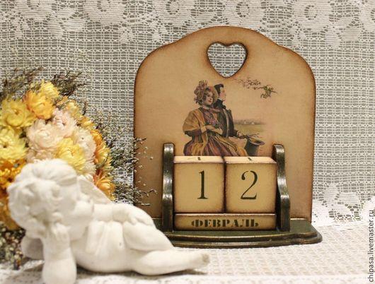 """Персональные подарки ручной работы. Ярмарка Мастеров - ручная работа. Купить Вечный календарь """" Любовь когда мы  вместе """". Handmade."""