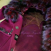 Одежда ручной работы. Ярмарка Мастеров - ручная работа Пальто с капюшоном-кобра. Фуксия. Handmade.