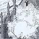 Город ручной работы. Раздумье. Наталья Атлянова. Ярмарка Мастеров. Ограда, тень, перо