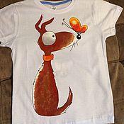 Работы для детей, ручной работы. Ярмарка Мастеров - ручная работа Детская футболка с рисунком. Handmade.