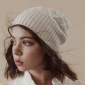 Аксессуары handmade. Livemaster - original item Women`s knitted hat Snow. Handmade.