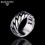 Украшения handmade. Livemaster - original item Steel braided ring. Handmade.