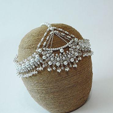 Свадебный салон ручной работы. Ярмарка Мастеров - ручная работа Тика из жемчуга и хрусталя. Handmade.