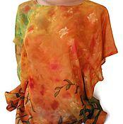 Одежда handmade. Livemaster - original item Batik Tunic Green Grass. Handmade.