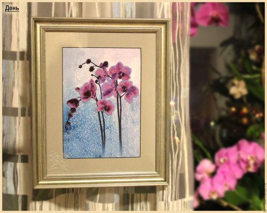Картины цветов ручной работы. Ярмарка Мастеров - ручная работа. Купить Картина бисером «Дикая орхидея». Handmade. Вышивка бисером