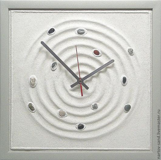 """Часы для дома ручной работы. Ярмарка Мастеров - ручная работа. Купить """"ЭХО...ПРОДОЛЖЕНИЕ...""""из песка часы авторские. Handmade."""