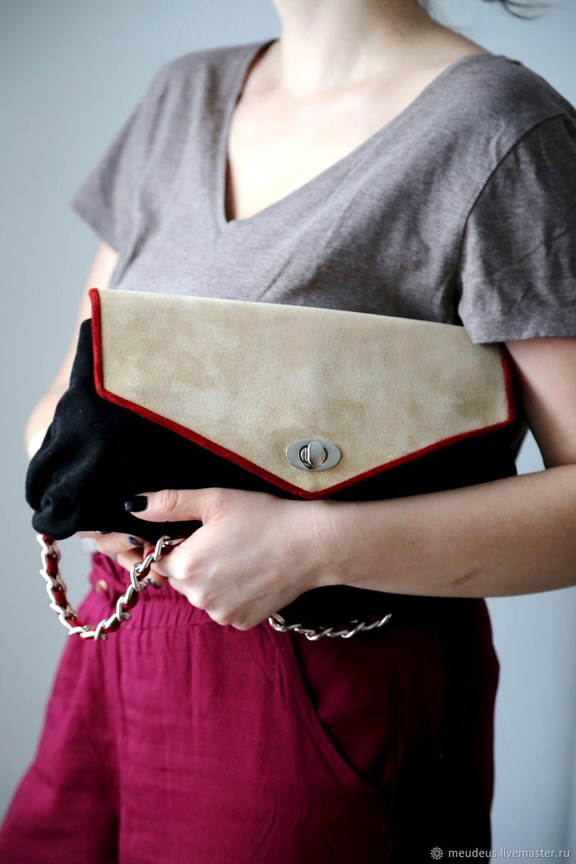 "Замшевая сумка с крышкой ""Одри Х."" арт. 452, Handbags handmade, Moscow, Фото №1"
