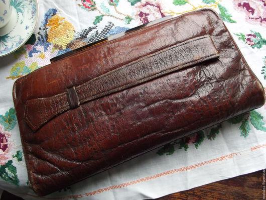 Винтажная одежда и аксессуары. Ярмарка Мастеров - ручная работа. Купить Сумка клатч Винтажная. Handmade. Коричневый, кожа