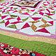 Пледы и одеяла ручной работы. Детское лоскутное одеяло для девочки с мишками. Лоскутные радости (zilber-quilt). Ярмарка Мастеров.