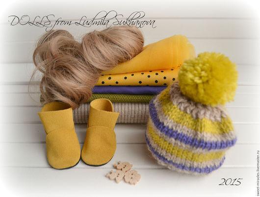 Куклы и игрушки ручной работы. Ярмарка Мастеров - ручная работа. Купить Набор для самостоятельного пошива куколки 29. Handmade. Желтый