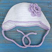 Работы для детей, ручной работы. Ярмарка Мастеров - ручная работа Детская весенняя шапка для девочки. Handmade.