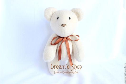 Куклы Тильды ручной работы. Ярмарка Мастеров - ручная работа. Купить Любимый медвежонок, флисовый, подарок для девушки, молочный. Handmade.