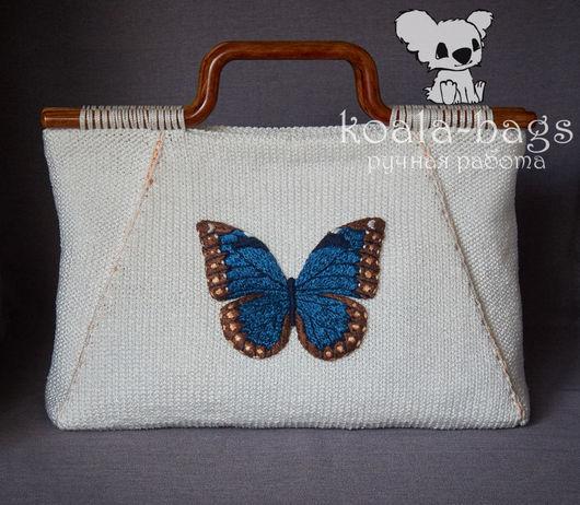 Женские сумки ручной работы. Ярмарка Мастеров - ручная работа. Купить сумочка с вышивкой ДЫХАНИЕ ЛЕТА вязаная летняя бабочка. Handmade.