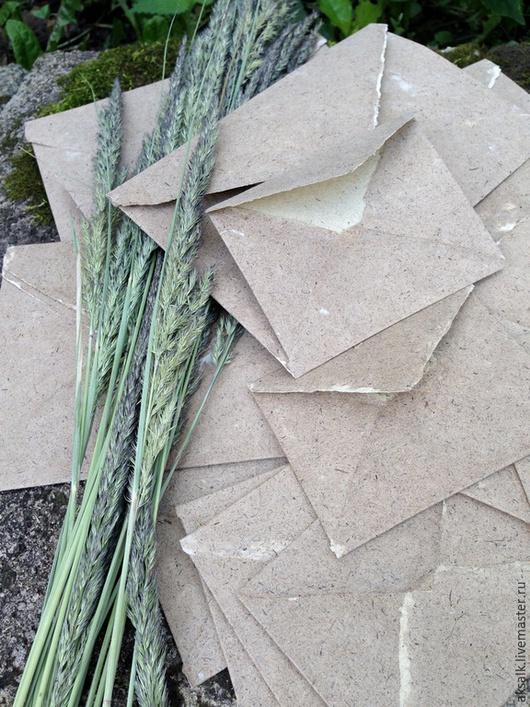 """Письменные приборы ручной работы. Ярмарка Мастеров - ручная работа. Купить """"сказка Лешего"""" конверты из бумаги ручной работы. Handmade."""