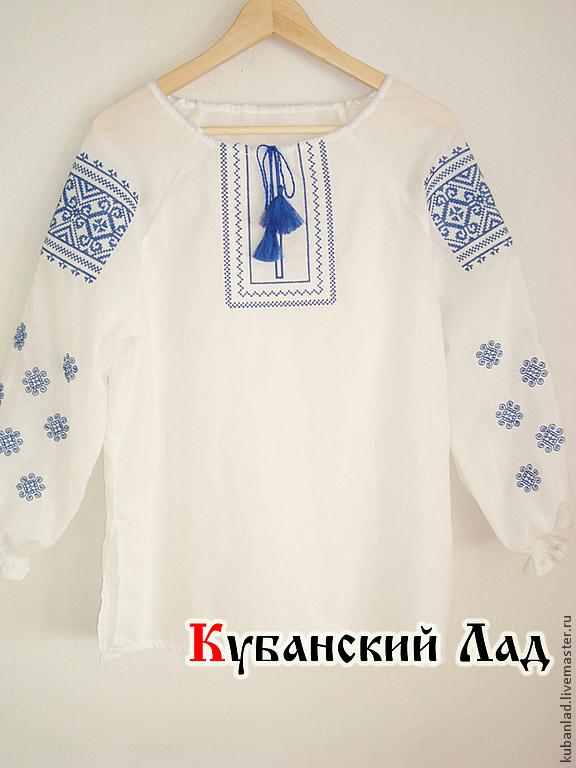 Рубашка с вышивкой русской купить