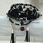 Украшения handmade. Livemaster - original item Bracelet in boho-chic style with leather and suede