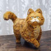 Мягкие игрушки ручной работы. Ярмарка Мастеров - ручная работа Рыжий  кот Гарфилд в стиле тедди натюр. Handmade.