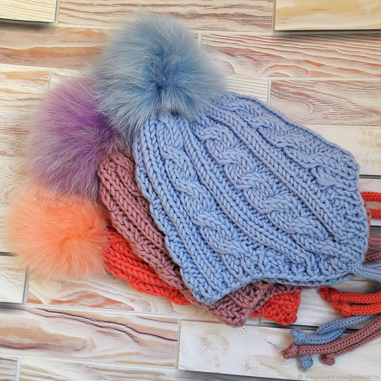 Шапка с косами 3-5 лет – купить в интернет-магазине на Ярмарке ... 6c2f822728c88