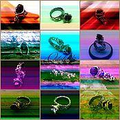 Украшения ручной работы. Ярмарка Мастеров - ручная работа Серебряное кольцо с шерлом Ведьмин цветок. Handmade.