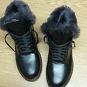 Обувь ручной работы. Ярмарка Мастеров - ручная работа Ботиночки из черной кожи. Handmade.