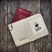 """Обложки ручной работы. Ярмарка Мастеров - ручная работа Обложка для паспорта """"Латте"""". Handmade."""