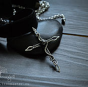 Pendants manualidades. Livemaster - hecho a mano Black choker Sterling Silver Cross necklace pendant Gothic Jewelry. Handmade.