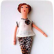 Куклы и игрушки ручной работы. Ярмарка Мастеров - ручная работа Игровая текстильная коллекционная кукла Алёна + доп_ наряд. Handmade.