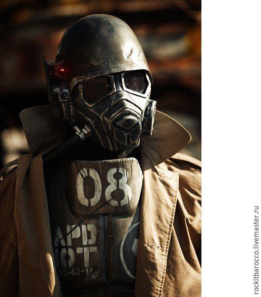 Карнавальные костюмы ручной работы. Ярмарка Мастеров - ручная работа. Купить Шлем и броня рейнджера-ветерана НКР из игры Fallout New Vegas. Handmade.