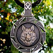 Украшения handmade. Livemaster - original item Pendant / Amulet of silver 925 Wolf / Svetoch. Handmade.
