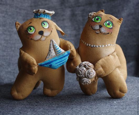 Ароматизированные куклы ручной работы. Ярмарка Мастеров - ручная работа. Купить Романтичные коты. Handmade. Кофе, моряк, подарок на свадьбу