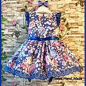 Работы для детей, ручной работы. Ярмарка Мастеров - ручная работа Детское платье Night Magic. Handmade.