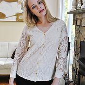 Одежда ручной работы. Ярмарка Мастеров - ручная работа Florence блузка. кружево. Handmade.
