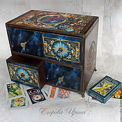Для дома и интерьера handmade. Livemaster - original item Mini chest of drawers for Tarot cards