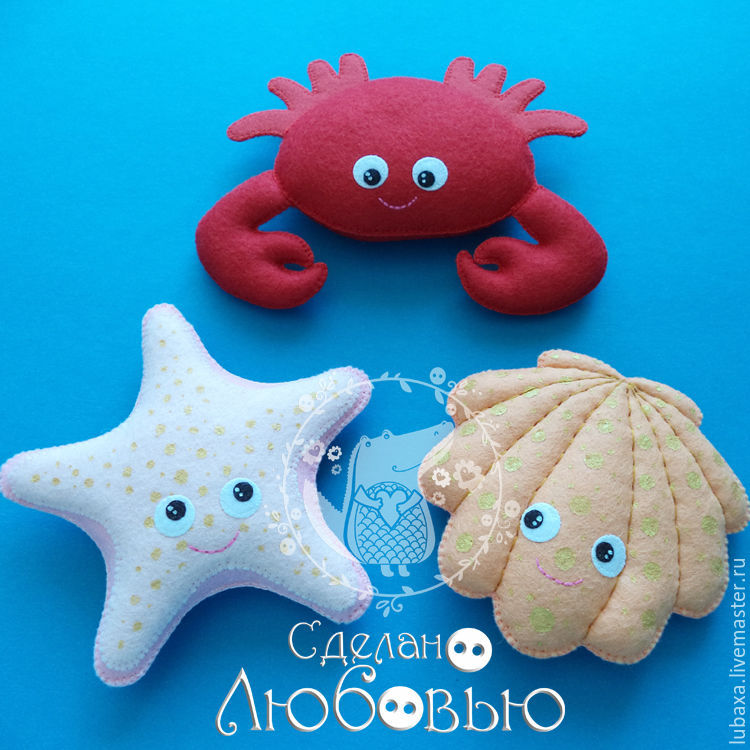 Set Of Patterns For Sewing Toys Marine Life 10 Cm Shop Online On
