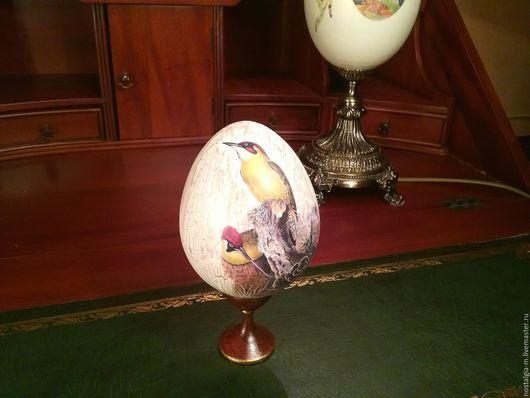 Яйца ручной работы. Ярмарка Мастеров - ручная работа. Купить Яйцо подарочное Винтажное. Handmade. Бежевый, желтый, корона