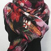 """Аксессуары ручной работы. Ярмарка Мастеров - ручная работа шарф валяный на  шелке """"Цветочный микс"""". Handmade."""
