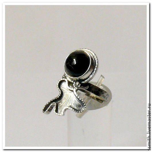 Кольца ручной работы. Ярмарка Мастеров - ручная работа. Купить Кольцо серебряное с черным турмалином (Шерлом). Handmade. Турмалин
