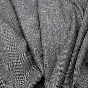 Материалы для творчества ручной работы. Ярмарка Мастеров - ручная работа Костюмная ткань, серый в клетку. Handmade.
