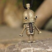 Подвеска ручной работы. Ярмарка Мастеров - ручная работа Подвеска: Робот Йозеф из Машинариума. Handmade.