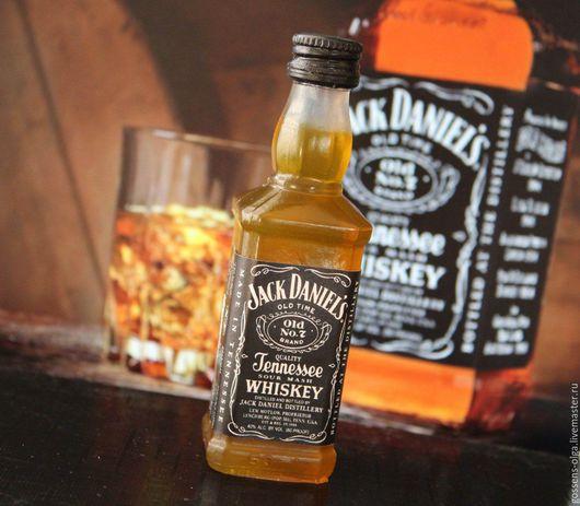 """Мыло ручной работы. Ярмарка Мастеров - ручная работа. Купить Мыло """"Виски"""". Handmade. Коричневый, мыло в подарок, бутылка в подарок"""