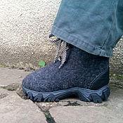 """Обувь ручной работы. Ярмарка Мастеров - ручная работа Детские валенки- ботинки """"Данила"""". Handmade."""