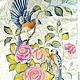 batik scarf 'birds'. Scarves. OlgaPastukhovaArt. Online shopping on My Livemaster.  Фото №2