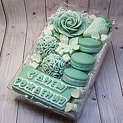 Косметика ручной работы handmade. Livemaster - original item Handmade soap set for birthday tender greens and macaroons. Handmade.